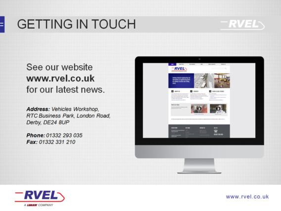 RVEL PowerPoint template design