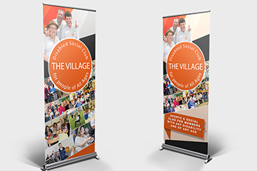 Roller banners for a Southend charity