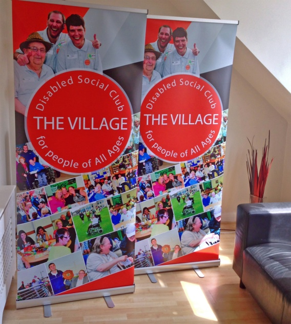 The Village roller banners