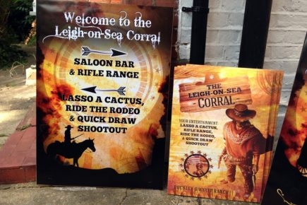 Wild West themed posters & table talkers