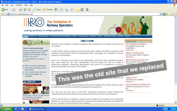 IRO-old-website