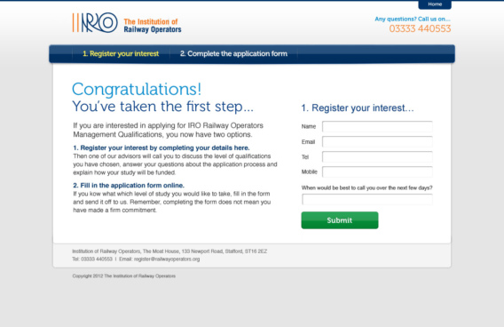 IRO register layout