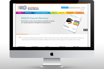 Web design for the Institution of Railway Operators (IRO)