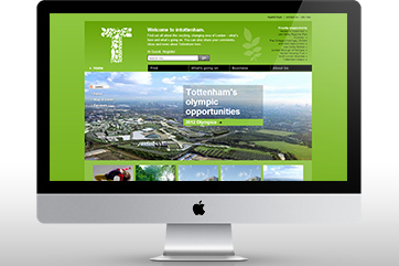 Web design for InTottenham