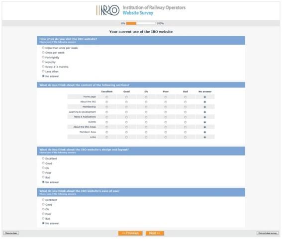 Membership Survey system