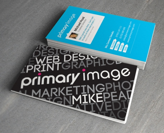 Primary Image business card design