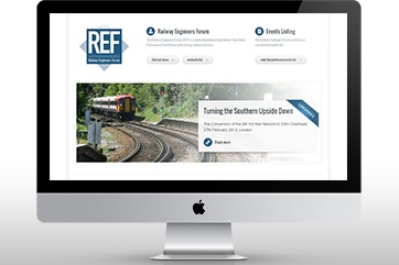 Web design for the Railway Engineers' Forum (REF)