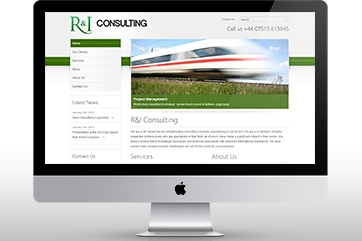 Web design for Rail and Infrastructure Consulting Services (2012)