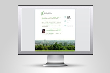 Web design for journalist Smita Talati