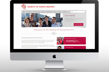 Web design for the Society of Young Freemen