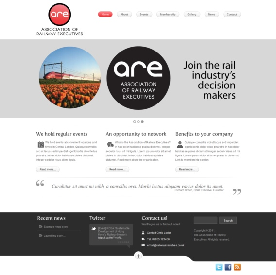Web design for Association of Railway Executives