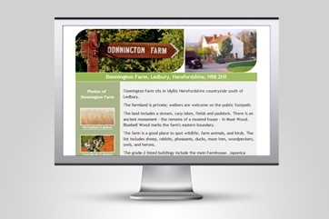 Web design for Donnington Farm