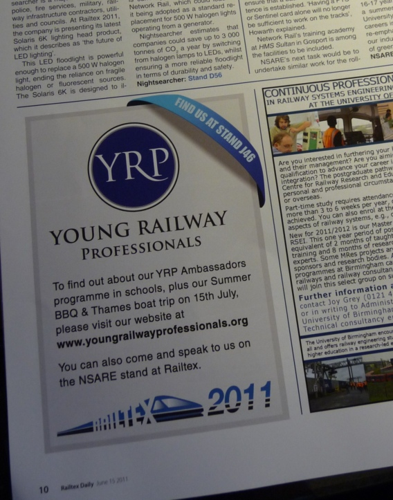 YRP Railtex newspaper advert