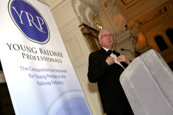 YRP banner stand with Pete Waterman