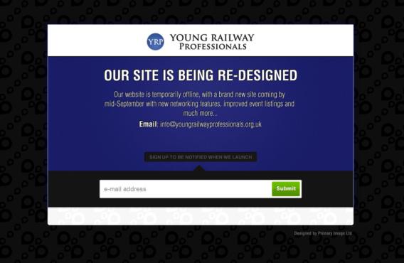 YRP temporary holding page
