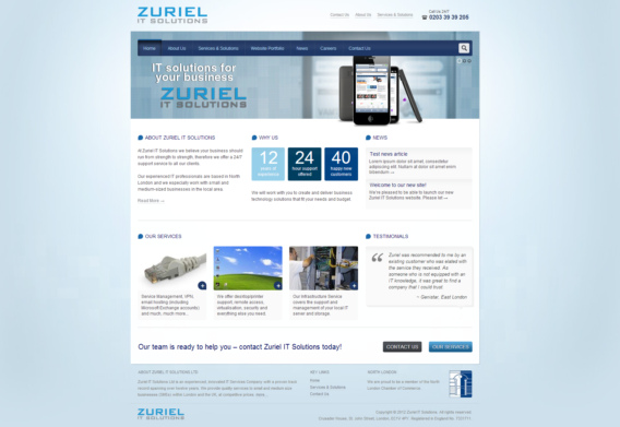 Zuriel IT Solutions website