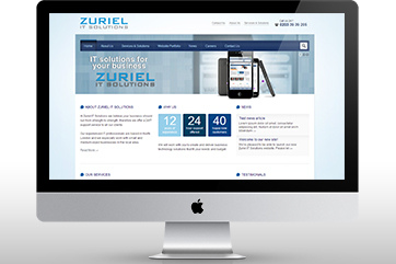 Web design for an IT company