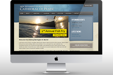 Web design for Cathedral of Praise