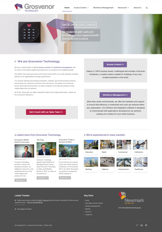 Grosvenor Technology Multilingual WordPress website