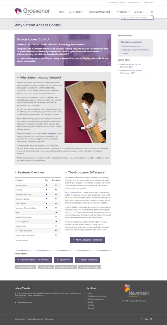 Grosvenor Technology page