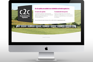 Stakeholder engagement website for a train operator