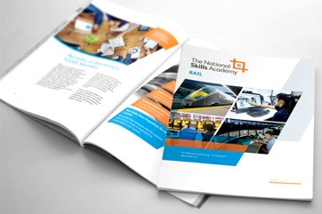 Brochure design for National Skills Academy for Rail