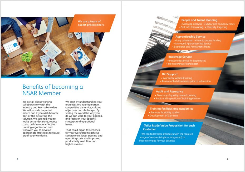 NSAR brochure design intro section