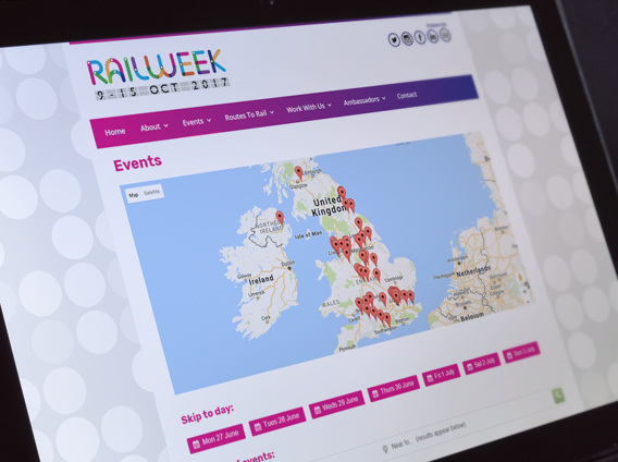 Rail Week events map