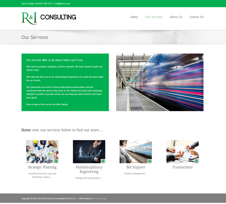 RAICS WordPress web design