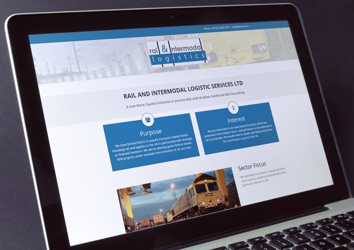 RAILS logistics company web design