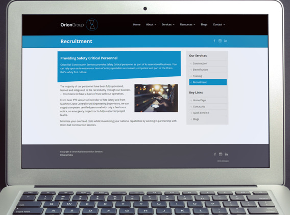 Recruitment agency web design