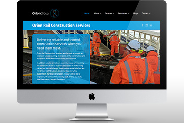 Web design for a construction & recruitment agency