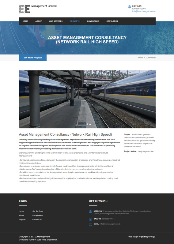 Civil engineering case study web design