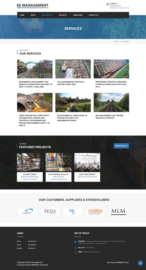 EE Management civil engineers web design