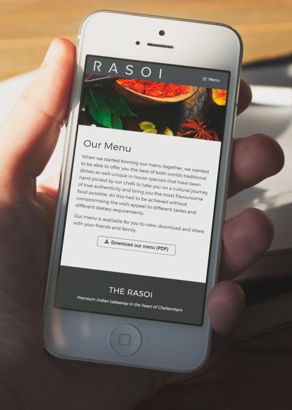 Indian web design on smartphone
