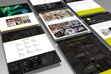 Web design for a marketing agency