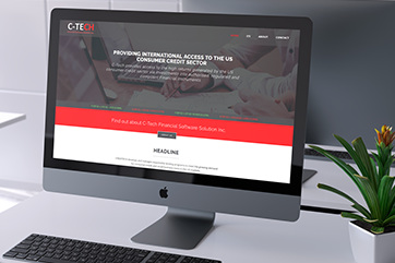 Web design for a financial services company