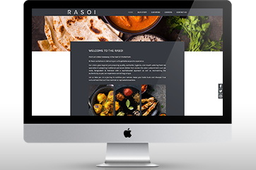 Web design for an Indian restaurant